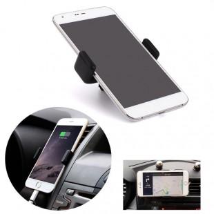 Универсальный держатель для телефона в автомобиль вставляется в щель дефлектора на приборной панели