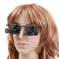 Ювелирные очки лупа с подсветкой20Х увеличение