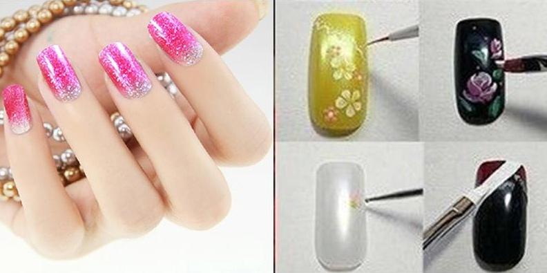 Набор 10 кисточек для дизайна ногтей купить в китайском магазине