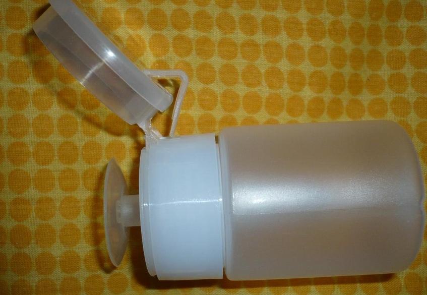 Пластиковый контейнер для нейл-арта с клапаном пульверизатора насосного типа 70 мл