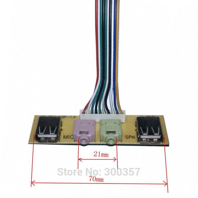 Описание::      Используется  для подключения на переднюю панель системного блока  компьютера     2 порта USB     аудио выход     микрофонный вход