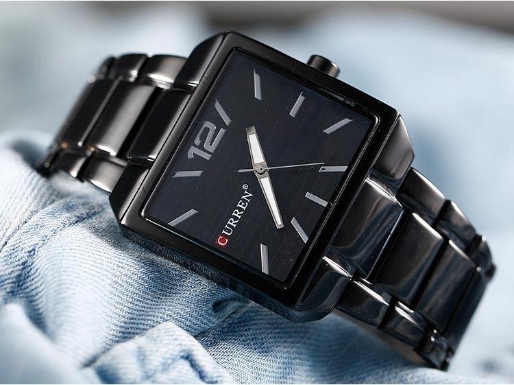 Черные часы curren 8132